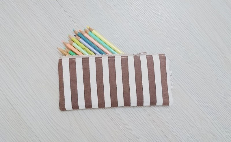 Pencil case stationery canvas pen bag tool bag storage bag stripe