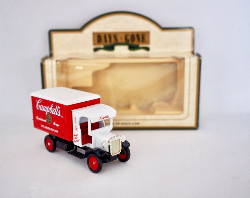 British made dark red Dennis transport car with original box