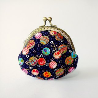 1987 Handmades 【Small universe】 mouth gold bag purse clutch