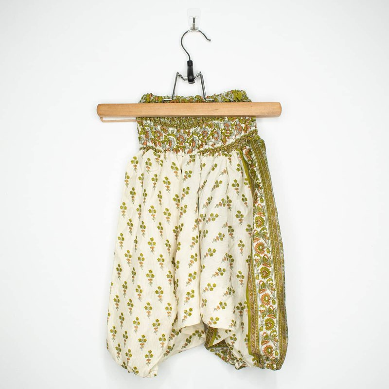 Pink green fruit children's flying squirrel pants (S)