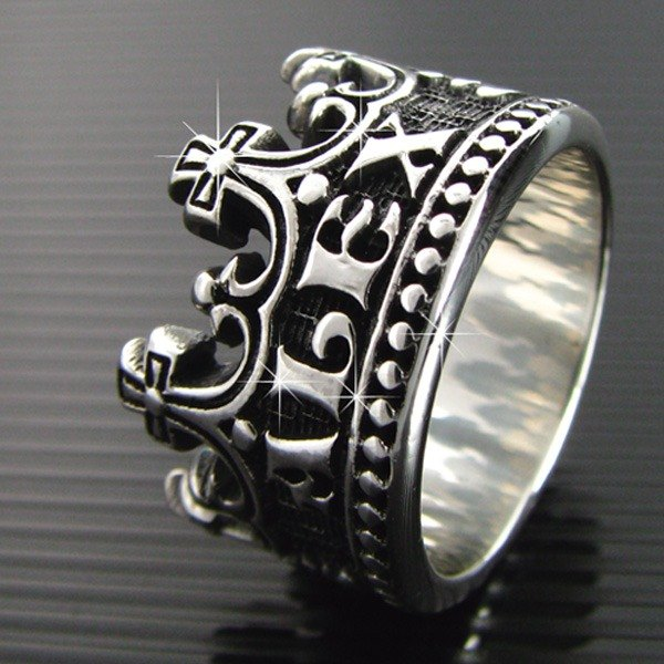 Customized .925 sterling silver jewelry RCW00011- name Crown Ring