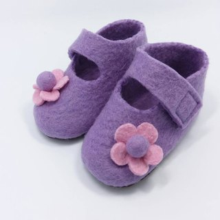 Wool felt baby shoes flower series of full moon ceremony