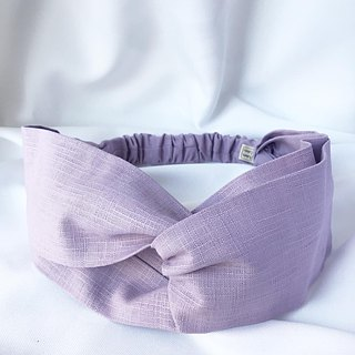 Plain cross hair band - purple