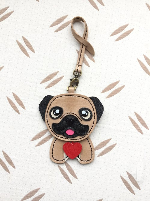 Bag leather strap - sweetheart Pug