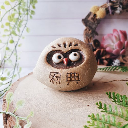 C-02 Owl Ornaments │ Yoshino Hawk x Office Small Things Pure Handmade Pottery Town Bell Gospel