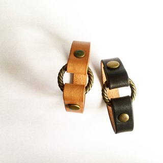 Huabee-round buckle leather bracelet