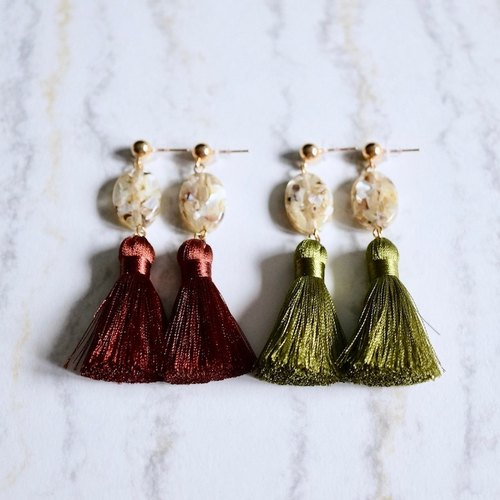 ITS: 231 【Super texture of the Soviet Union earrings series】 transparent shells over the quality of the flow of the girlfriends earrings