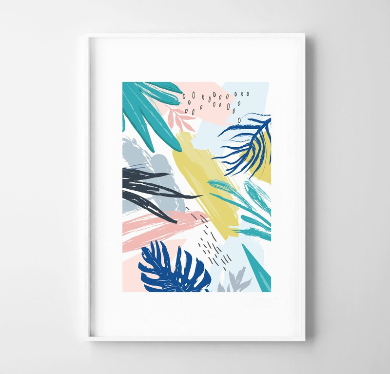 Colour Forest (2) Customizable painting poster