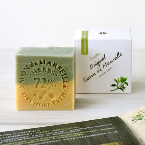 Lemongrass Herbal Marseille Soap│72% Pure Olive Oil Handmade Cold Washing Body Wash