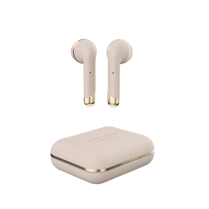 [Spot] Happy Plugs Air 1 True Wireless Bluetooth Headphones Champagne Gold