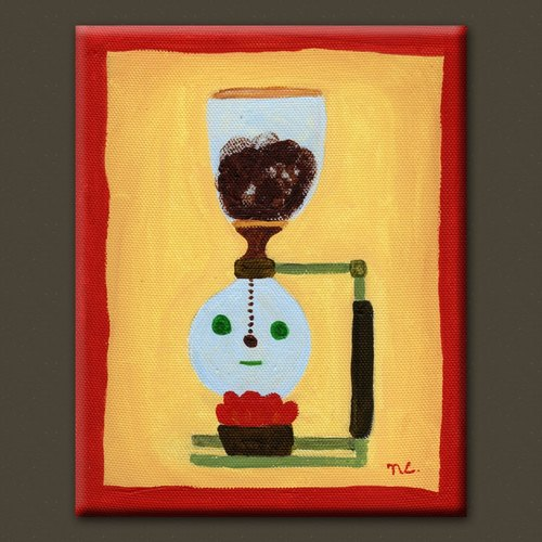 Mr. Coffee maker | hand-painted original painting