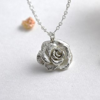 One Rose (Silver Necklace Silver Valentine's Day Gift) ::C% Handmade Jewelry::