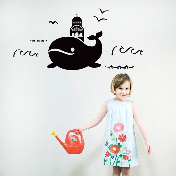Smart Design Creative wall stickers Incognito ◆ Whale Nautical Dream (8 colors optional)