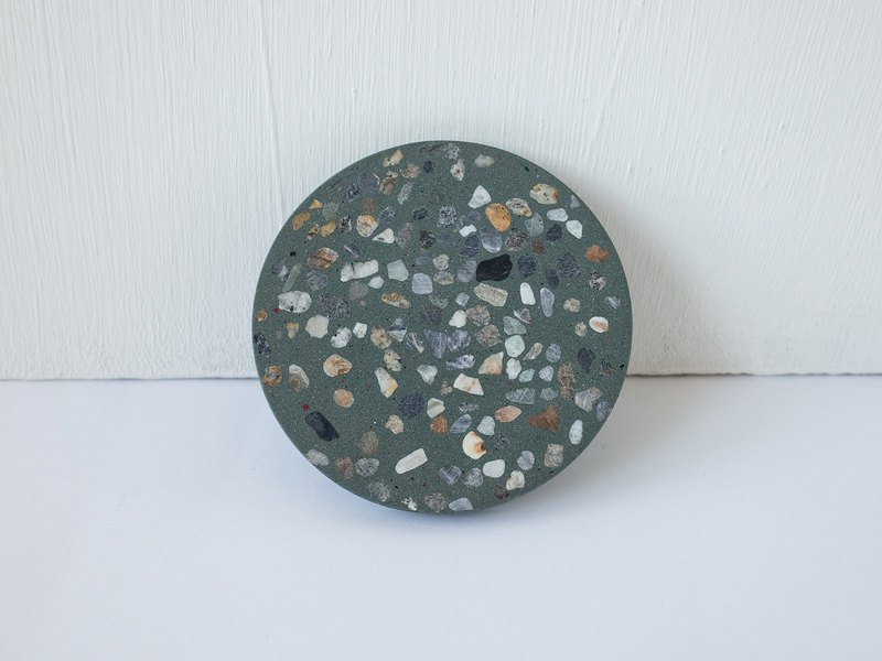No Sight Room│The only non-Emerald green terrazzo cement coaster