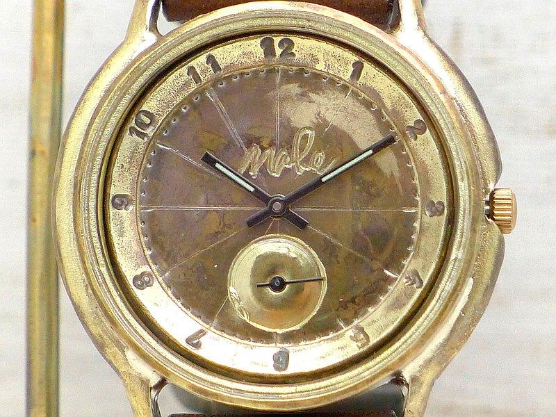""""""" JB-SS2""""阿拉伯數字36mm黃銅小秒針手工手錶(JUM31SS2阿拉伯語)"""