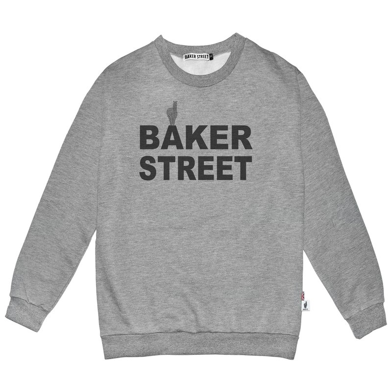 British Fashion Brand -Baker Street- Logo Printed Sweatshirt