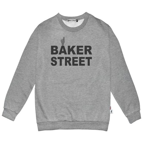 British Fashion Brand -Baker Street- Logo  Printed Sweater