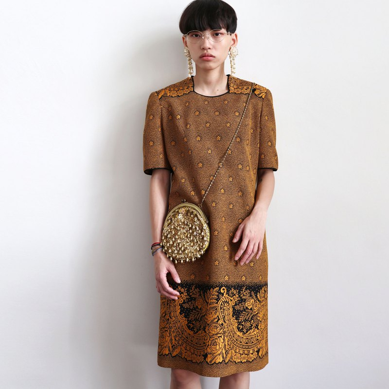 Pumpkin Vintage. Vintage suede dress
