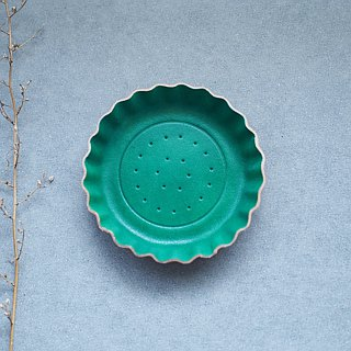 Green biscuits) Accessories small leather tray