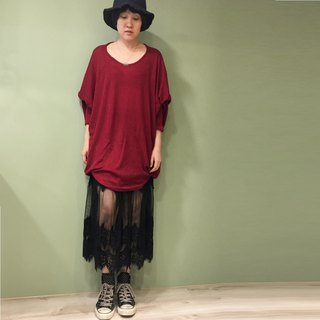 【Top】 Great Circle Design long sleeve shirt _ red