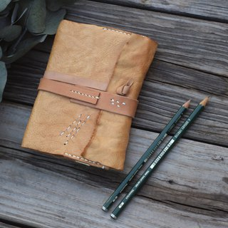 A6 Scroll planner leather cover