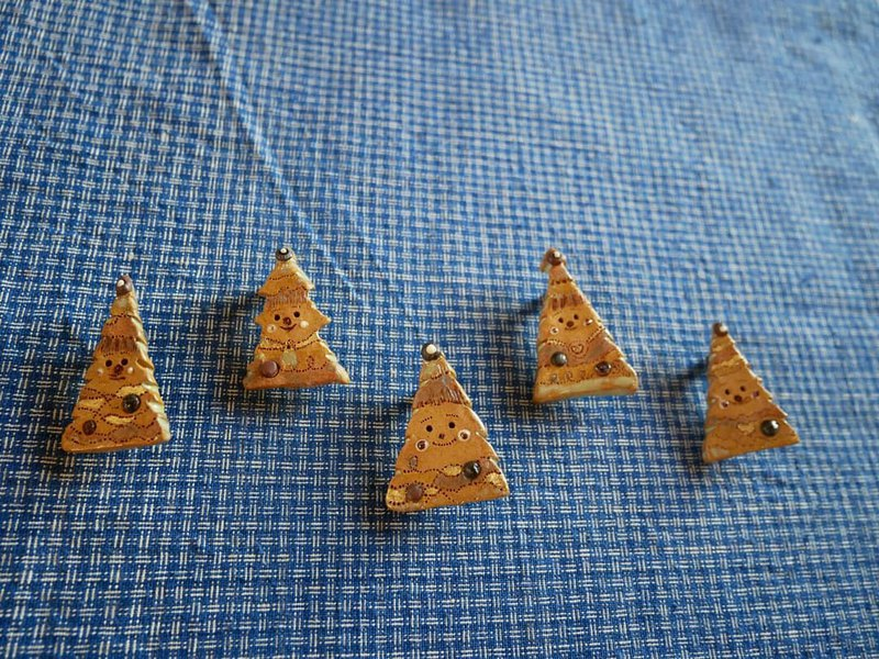 Christmas tree small ceramic needles