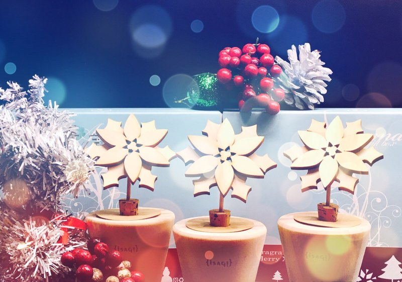 Xmas Christmas exchange gift aromatherapy potted plants - poinsettia