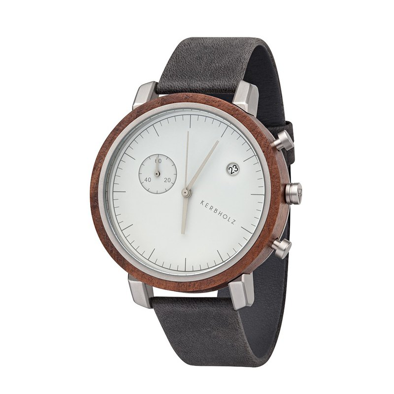 KERBHOLZ-Wood Watch-FRANZ-Gentleman Grey (45mm)