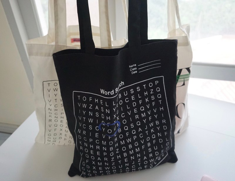 YOU tote bag (word search)