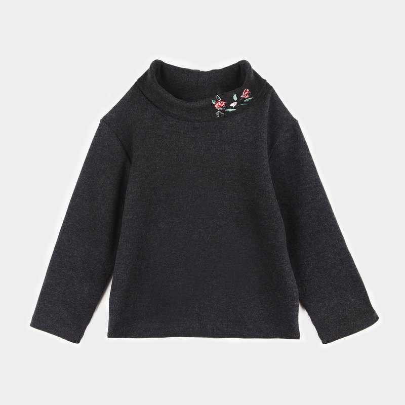 Galaxy Embroidered Turtleneck Top