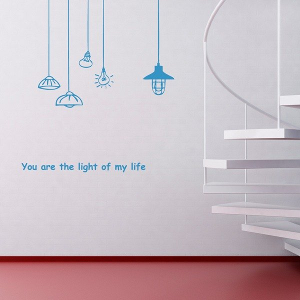 Smart Design Creative wall stickers Incognito ◆ light of the chandelier (8 colors optional)