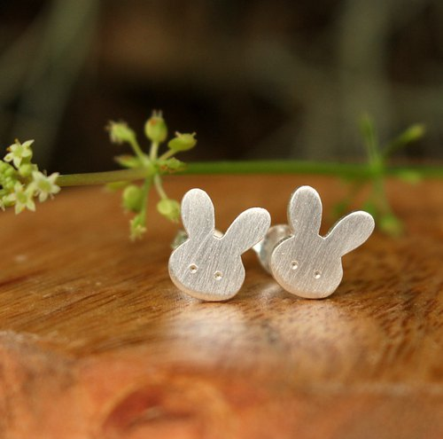 Bunny - Silver Earrings / Sterling Silver / Animal Earrings / Earrings / Rabbit