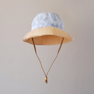 Yarn-dyed camouflage light blue light child visor