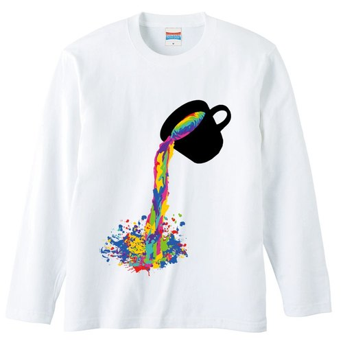 [Long sleeve T-shirt] Colorful juice