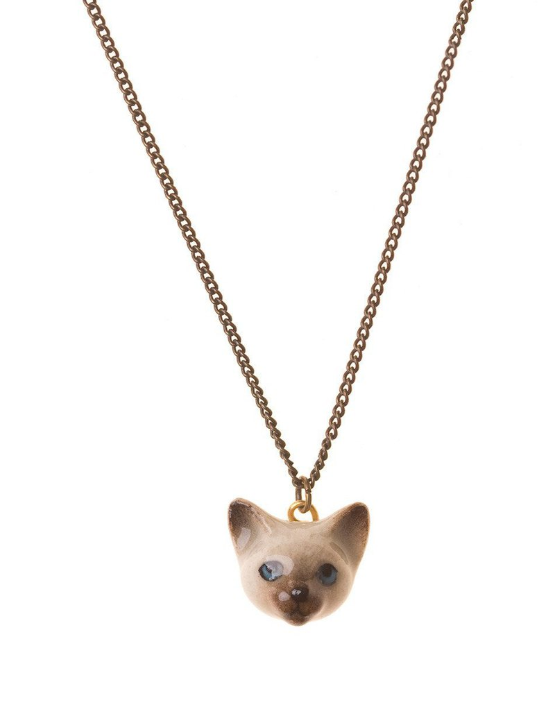 "And Mary Siamese Cat Necklace | 18""/22"" 