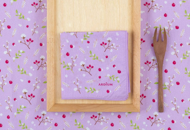 Ardium Nature Hanky ​​Handkerchief - Violet Cotton