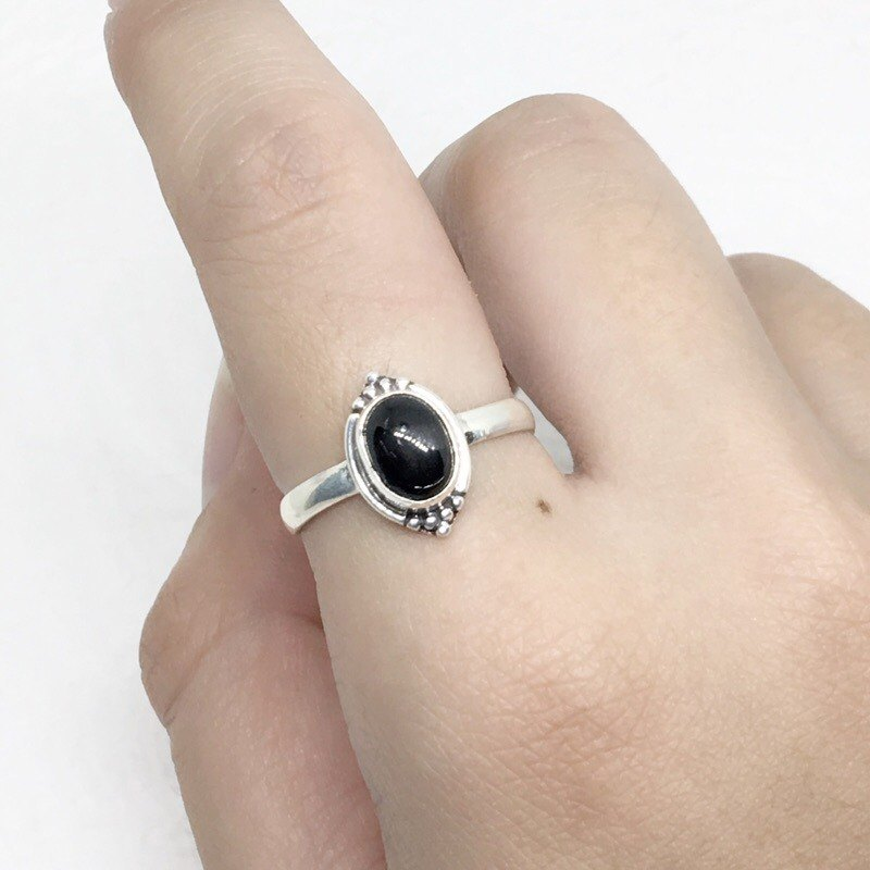 Black Star Stone 925 Sterling Silver Exotic Design Ring Nepal Handmade Mosaic (Figure 1)