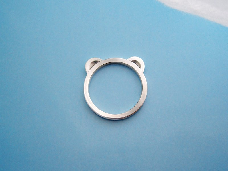 S Lee-925 silver hand for peace series - safe bears ring / pendant