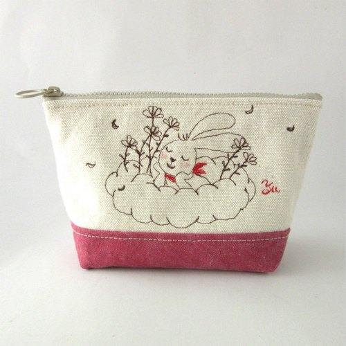 Happy zipper bag, storage bag, grocery bag