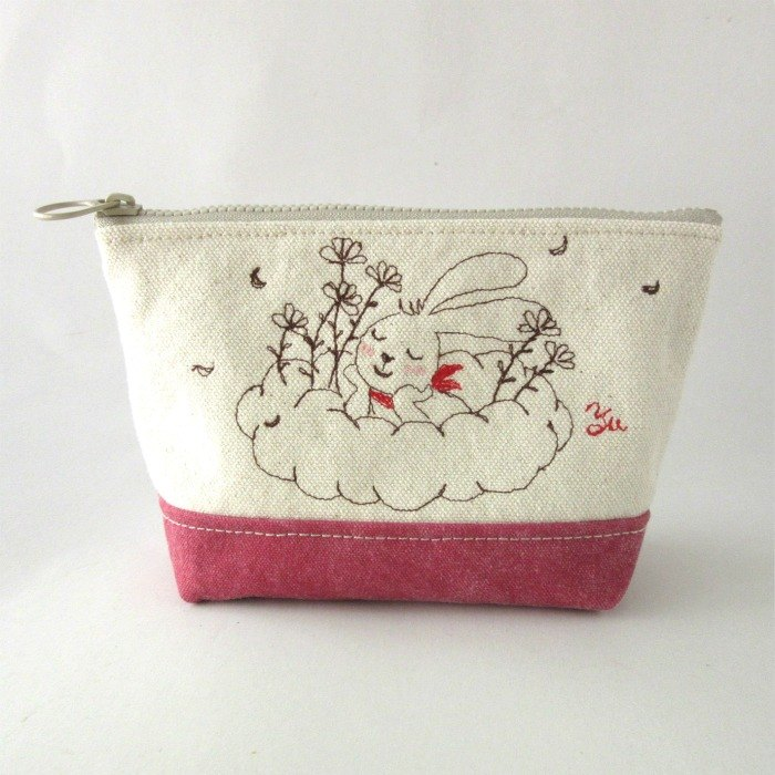Happy - zipper bag, storage bag, grocery bag