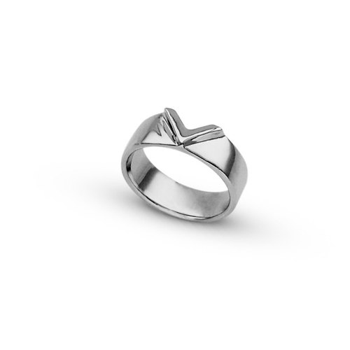 WING Jewelry | Paris Series - Bright Sparkle | Fine White Steel Rings (Male) 8AC00141