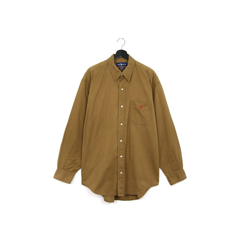 Back to Green::Polo Ralph Lauren 熊棕色 //vintage shirt