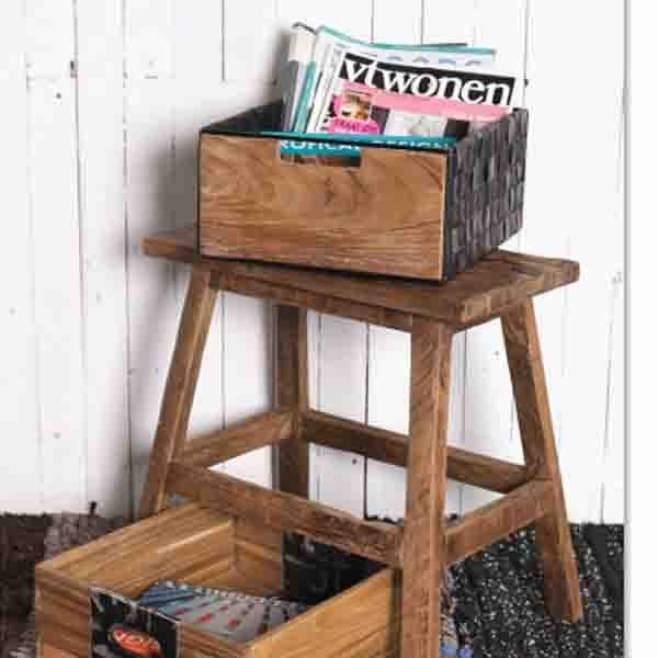 Home Solutions Car Tires Deep Shelving Wooden Box