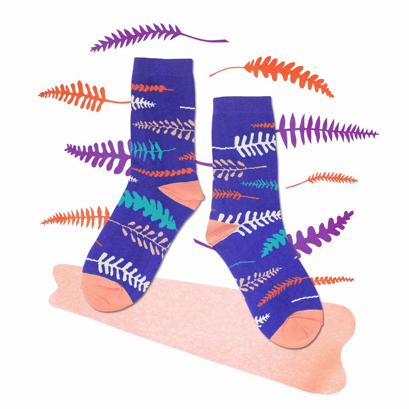 Fern Violet Unisex Crew Socks | mens socks | womens socks | comfortable socks