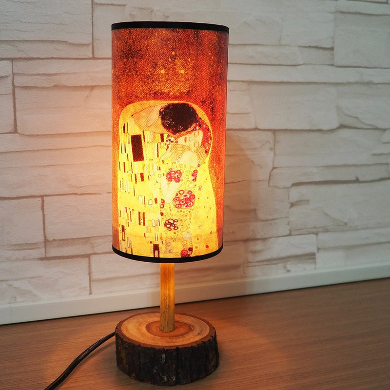 JB Design- Wenchuang Elm Cylinder Table Lamp - Kiss - (Send Area Limited to Taiwan)