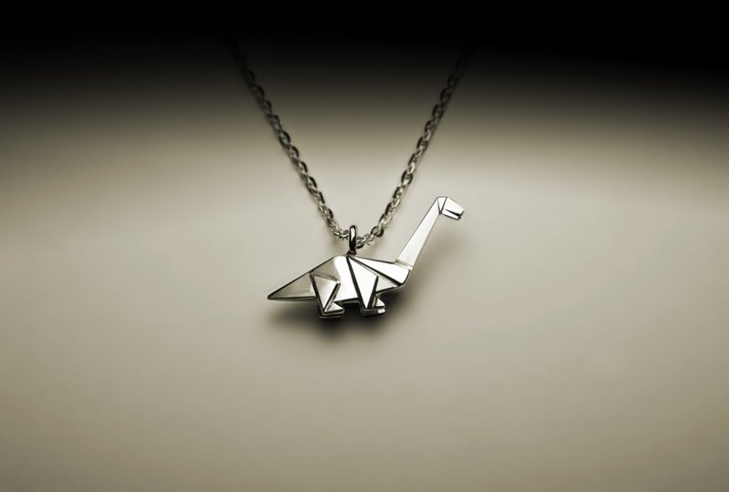 Little Thunder Dragon Origami Necklace