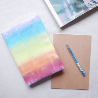 :Rainbow : Hadmade Tie dye Book Cover for A5 Adjustable Xmas gifts