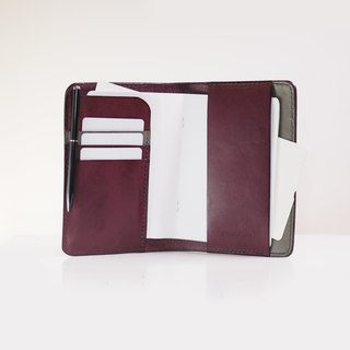 Original Passport Holder - Plum Caspia with Warm Gray