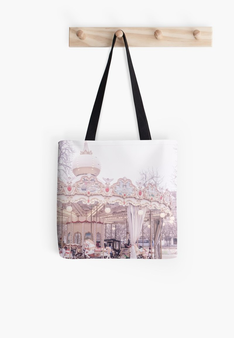 Paris Carousel Tote Bag, Paris gift