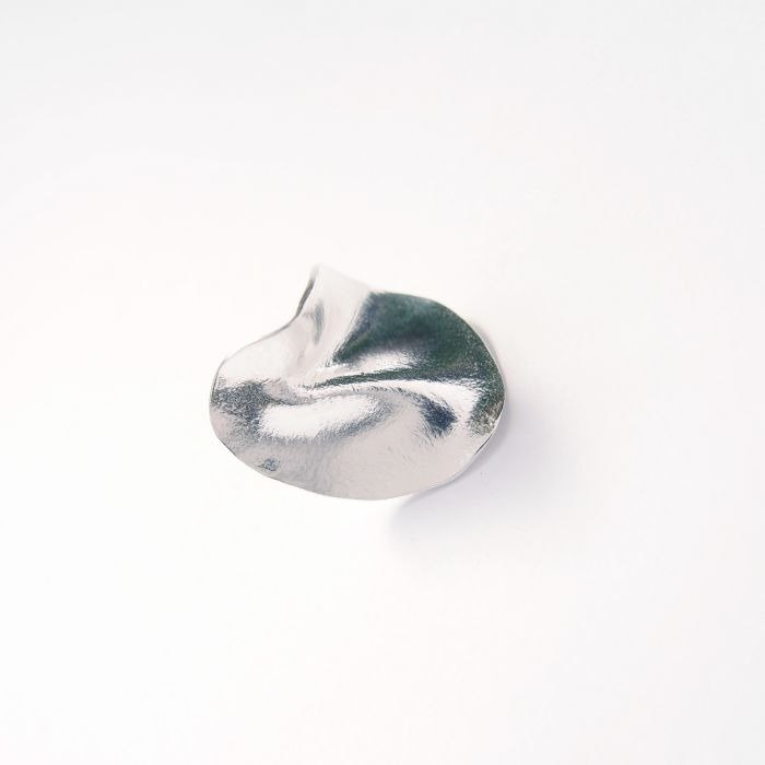 Folding series round 925 silver brooch